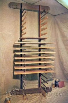 Knock-Down Drying Rack - Finishing Tips and Techniques   WoodArchivist.com