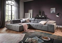 Jockenhöfer Gruppe Big-Sofa | cnouch Innovation Design, Rosa Couch, Pink Couch, Pink Room, Room Interior, Interior Decorating, Decorating Ideas, Colours, Furniture
