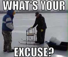 Best ice fishing modification ever! Photo courtesy of Ice Junkies Outdoors http://www.imnfishing.com/