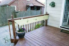 Build a DIY Flip Up Deck Bar! ~- Designed Decor - - Create additional seating for your deck by building a flip up deck bar. Perfect for parties and entertaining for your outdoor living space. by DeDe Bailey. Deck Building Plans, Building A Porch, Deck Plans, Pergola Plans, Cool Deck, Diy Deck, Deck Bar, Patio Bar, Wood Patio