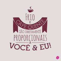 Um café pode ser bem romântico! #cafe