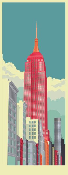 Remko Heemskerk - Wonderful collection of colorful buildings in NY.