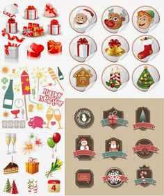 New Year's Champagne Labels Templates   Format: EPS stock vector clip art and illustrations. Free for download ...
