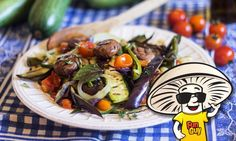 What did the #FunGuy say when he found a rat on his plate? Rat-a-tooey! That won't be the issue with this FunGuy mushroom ratatouille! Fresh healthy vegetables straight from the garden cooked over an open fire.