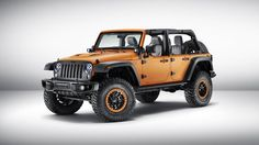 Mopar customized this Jeep Wrangler Rubicon Sunriser in preparation for Frankfurt
