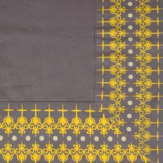 Shop Grey & Yellow Border #Tablecloth Home Decor #Gifts for #ValentinesDay Online at CherryTin.com