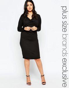 Junarose Cowl Neck Pencil Dress