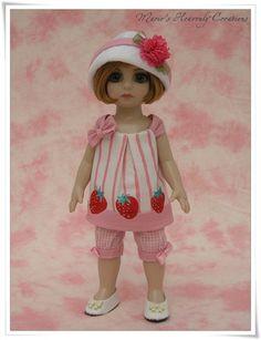 Tonner Patsy Ann Estelle Doll OOAK Strawberry Two-piece Set by HeavenlyMarie