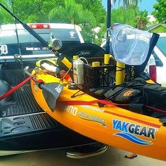 Locked & Loaded! Time for the weekend! #kayakfishing