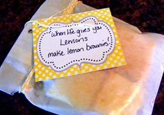 Lemon Brownies - The Taylor House