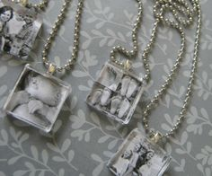 Maker Crate - Glass Tile Photo Pendant Necklaces