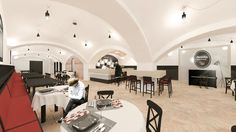 This is a restaurant renovation in Pécs, Hungary.