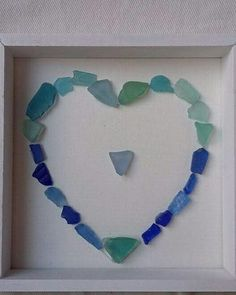 #seaglass heart #handmade #crafts #seaglasspicture #shipwreckbay  I have a Facebook page called Shipwreck Bay if you want to check out what I make. I'm in England. And make Pictures /Jewellery / Ornaments / Christmas decorations from Sea glass.