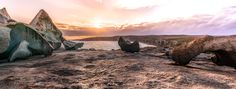 """Views into the past - Ancient views from atop of an incredible rock formation known as """"Remarkable Rocks"""", Kangaroo Island, Australia."""