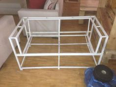 Steel framed couch