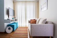 Sala de estar decorada por Luciane Mota