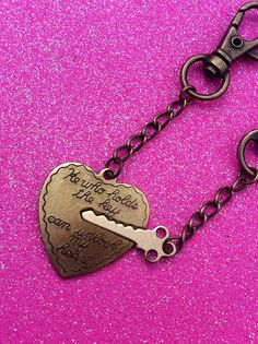 Key To My Heart Couples Keychain Set by KorpseCrafts on Etsy, $20.00
