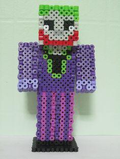Joker Minecraft Skin 3D_Perler Beads