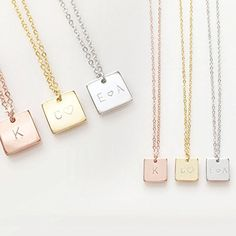 Initials Necklace Bridesmaid gift Your name necklace *** Click on the image for additional details.Note:It is affiliate link to Amazon.