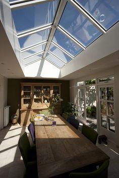 lichtstraat zadeldak (www.lichtstraatspecialst.nl) Love Home, My Dream Home, Dream Home Design, House Design, Skylight Window, Roof Lantern, Interior Decorating, Interior Design, Outdoor Rooms