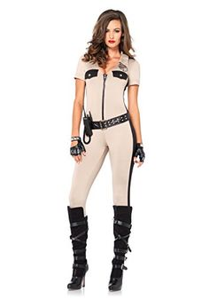 Leg Avenue Womens 4 Piece Deputy Patdown Police Costume Tan Small >>> You can find more details by visiting the image link.