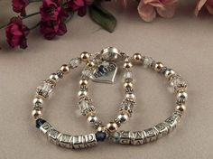 Personalized Sterling Silver Crystal 2 Strand by KrisTsCreations, $110.00