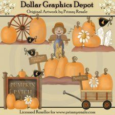 Pumpkin Patch - Clip Art