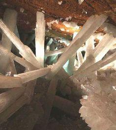 La carrière de cristaux au Mexique