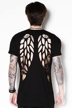 T Shirt Wings - CORTE A LASER - 100% ALGODÃO