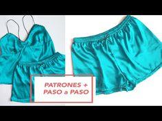 How to make satin shorts Satin Sleepwear, Sleepwear Women, Diy Shorts, Gym Shorts Womens, Diy Clothing, Clothing Patterns, Sewing Lingerie, Satin Shorts, Pants Pattern