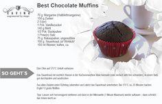 Best Chocolate Muffins. Sehr schnell zubereitet. Besucht mich doch unter www.xavina.com