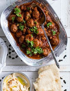 These smoked lamb meatballs with sweet-sour harissa sauce are quick and easy to make but are packed full of flavour. Check out this easy meatball recipe Lamb Recipes, Meatball Recipes, Veggie Recipes, Dinner Recipes, Salmon Recipes, Dinner Ideas, Recipes With Harissa Sauce, Sauce Recipes, Healthy Cooking