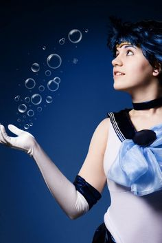 Bubbules : Sailor Mercury cosplay by =Mikacosplay