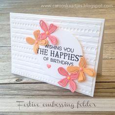 Stampin' Up!, festive embossingfolder, verjaardagskaart, birthdaycard, enamel dots