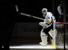 Epic picture of Brad Thiessen taking his first step on the ice for his first NHL game. 2/25/12