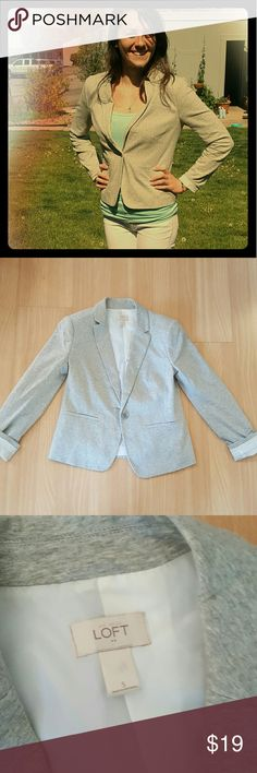 LOFT gray blazer, Size S Ann Taylor Loft gray blazer with white lining in size S - in impeccable condition! LOFT Jackets & Coats Blazers