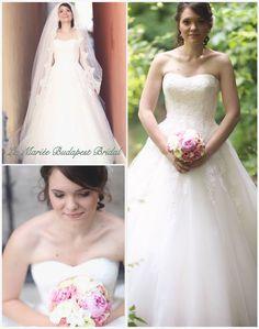 Csilla bride by La Mariée Budapest bridal dress by Pronovias Budapest, One Shoulder Wedding Dress, Bride, Wedding Dresses, Fashion, Rosa Clara, Weddings, Wedding Bride, Bride Dresses