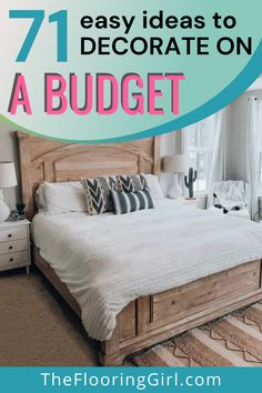 Budget friendly hacks to decorate your home on a dime. Decorate your kitchen without remodeling, decorate your bathroom without retiling, redo your bedroom while being thrifty, frugal tips to redecorate your living room and thrifty solutions to decorate your dining room. Luxury Vinyl Plank, Types Of Flooring, Frugal Tips, Do It Yourself Home, Diy Home Improvement, Diy Table, Decorating On A Budget, Diy Hacks, Remodeling