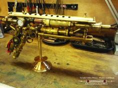 Steampunk Variable Calibre Blaster with displa by kruki99
