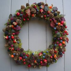 Classic Deep Green & Winter Berry Wreath - My Favourite Addition To Any Door! Felt Wreath, Diy Wreath, Wreath Ideas, Easter Wreaths, Holiday Wreaths, Christmas Bells, Christmas Decorations, Rustic Christmas, Berry Wreath