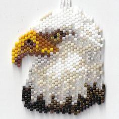 Bald Eagle Head Pendant by Edithscustomcrafts on Etsy, $15.99