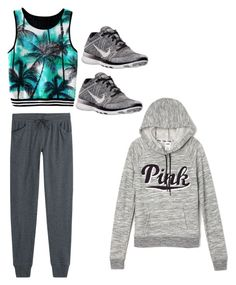 """Sin título #491"" by marti1d ❤ liked on Polyvore featuring Majestic, NIKE and Victoria's Secret"