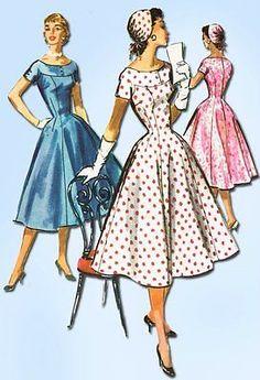 1950s Vintage Cocktail Dress Pattern w Hat 1956 McCall's Sewing Pattern 31 B   eBay