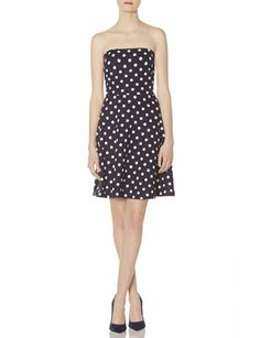 Dot Ponte Strapless Dress from THELIMITED.com