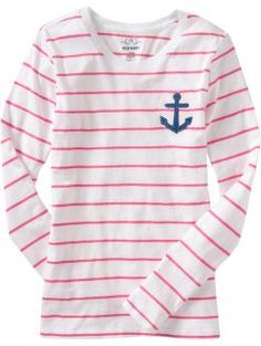 nautical stripe shirt with anchor -#nautical, #anchor