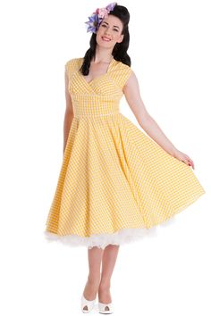 4279aa2de816 Hell Bunny Lazy River Yellow Dress - For those of you who asked this is  where I got the dress I wore yesterday. Just an FYI.