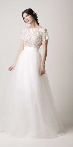This is a short dress that comes with a long skirt, So you can take it off later for the reception.