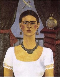 "Frida Khalo ""Self Portrait-Time Flies"" 1929"