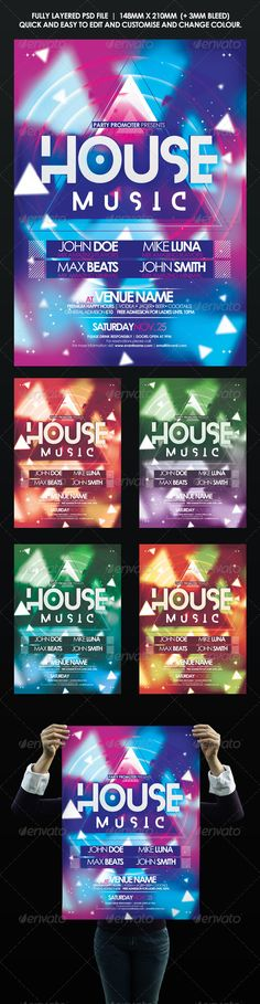 House Music Event Flyer | Poster Template PSD | Buy and Download: http://graphicriver.net/item/house-music-event-flyer-poster/8597758?WT.ac=category_thumb&WT.z_author=Digitech-media&ref=ksioks