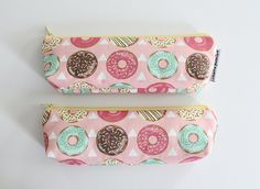 pencil pouch sprinkled donuts by MarineParents on Etsy